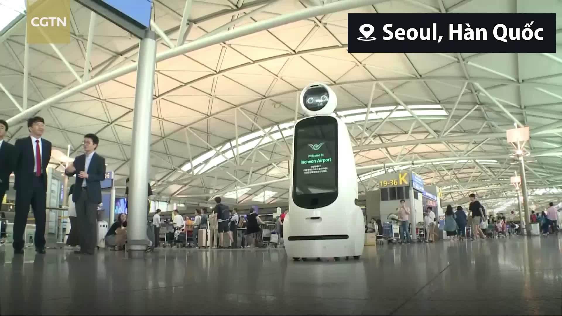 Hàn Quốc ra mắt robot chỉ đường mới tại sân bay