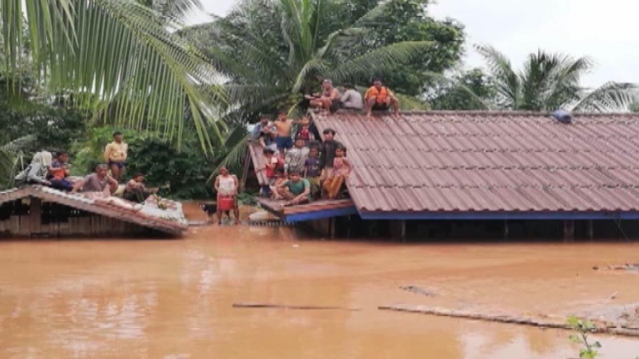 Vỡ đập thủy điện ở Lào