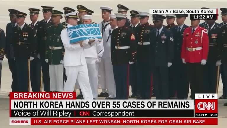 Triều Tiên trao trả 55 hài cốt lính Mỹ