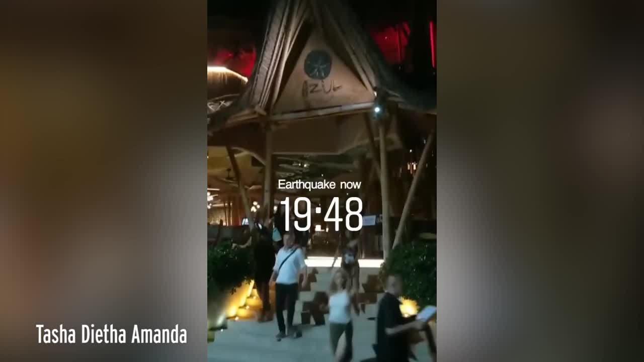 Nhân chứng động đất Indonesia: 'Bali rung chuyển'