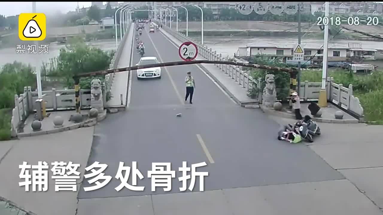 Không giấy tờ, người đi xe máy đâm văng cảnh sát rồi bỏ chạy