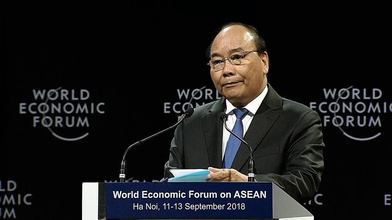 Thủ tướng Nguyễn Xuân Phúc phát biểu khai mạc Diễn đàn Kinh tế Thế giới về ASEAN