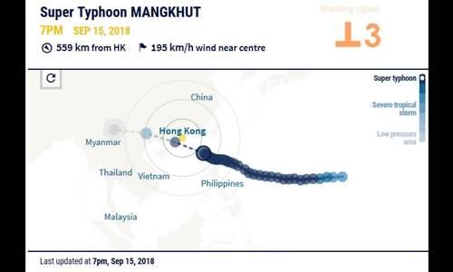 Bão Mangkhut có thể đe dọa nhà máy điện hạt nhân Trung Quốc
