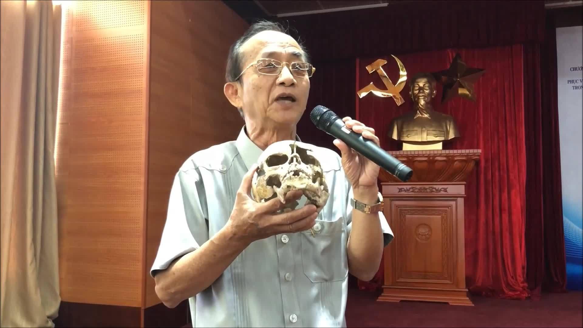 PGS Nguyễn Lân Cường kể chuyện tìm xương sọ người tiền sử