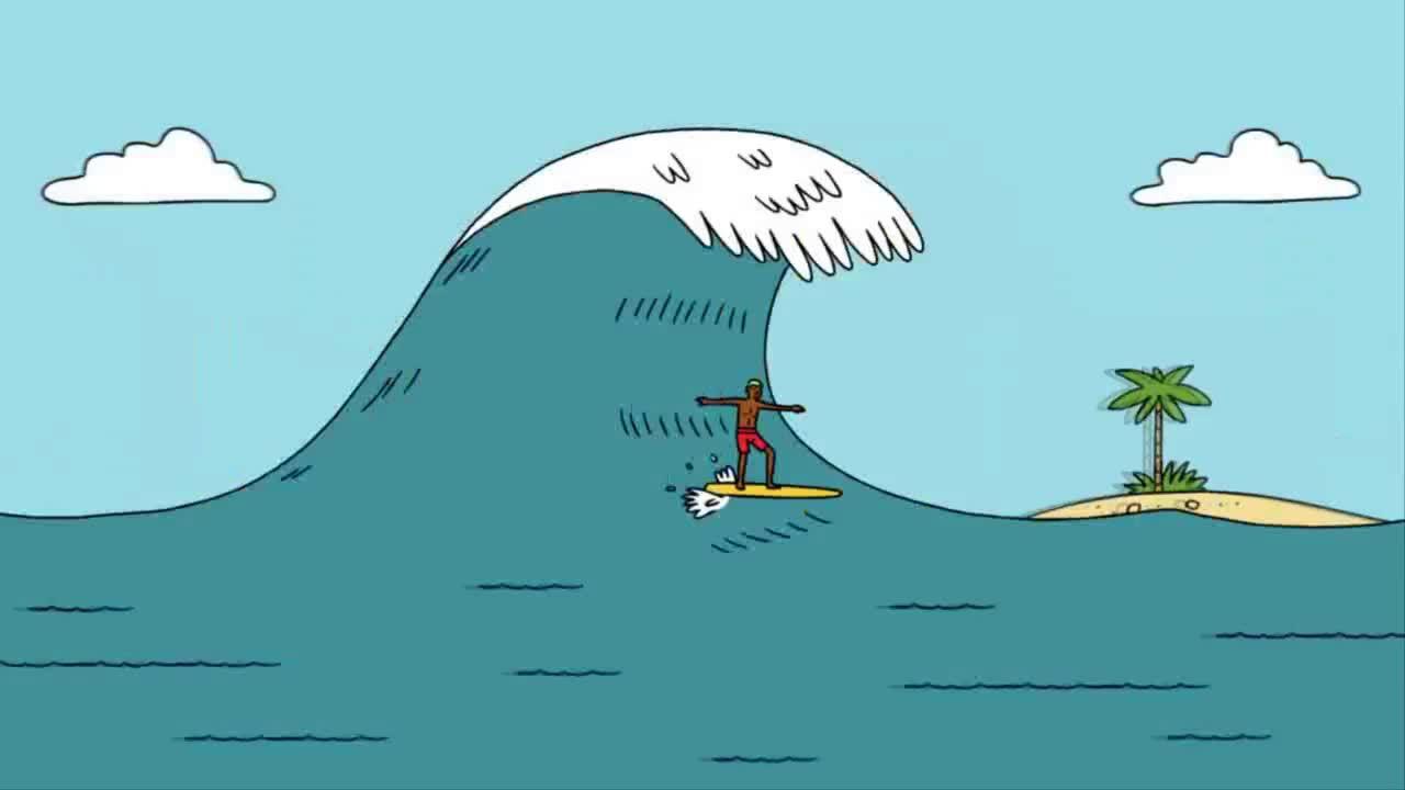 Vận động tạo nên sức mạnh hủy diệt của sóng thần