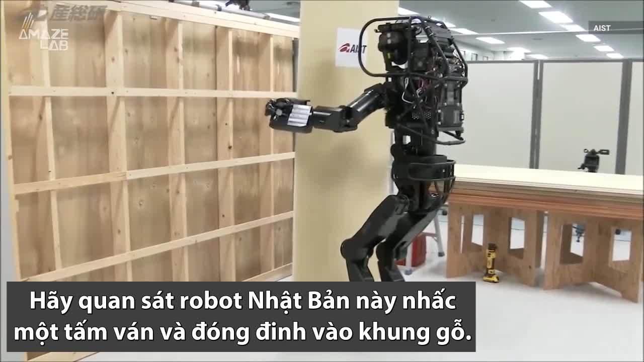 Robot Nhật Bản giống người có thể xây nhà trong tương lai