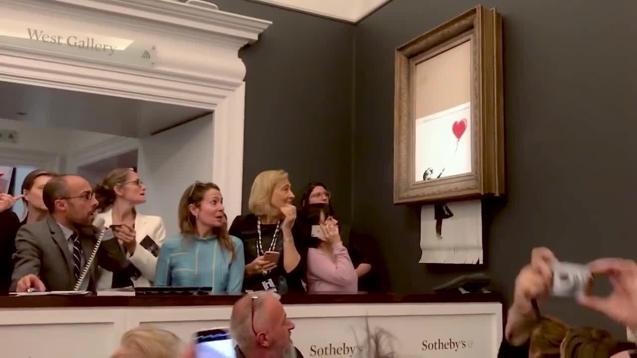 Họa sĩ khẳng định bức tranh 1,4 triệu USD bị cắt nát sau khi đấu giá