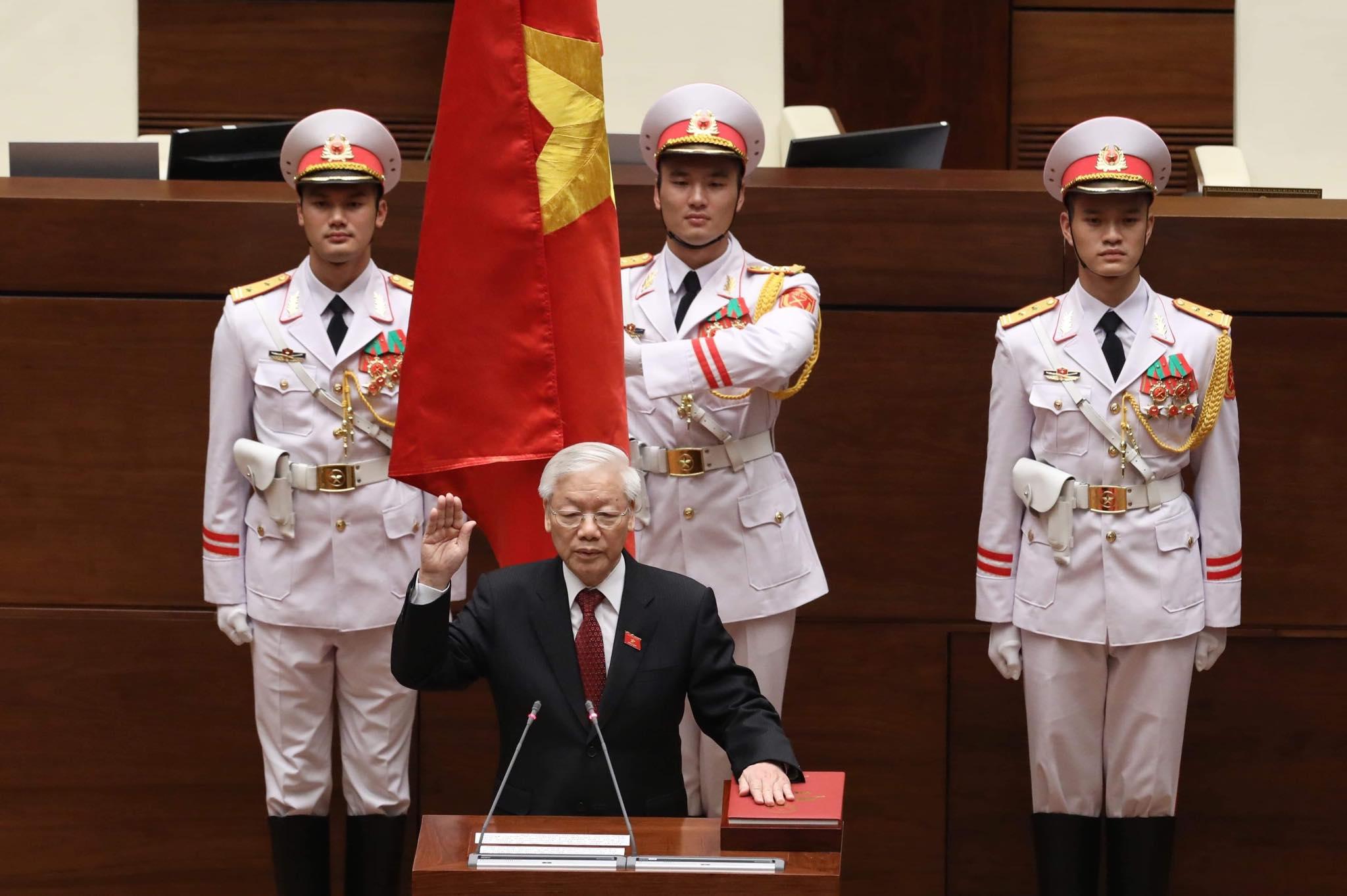 Tổng bí thư, Chủ tịch nước phát biểu trong lễ nhậm chức trước Quốc hội