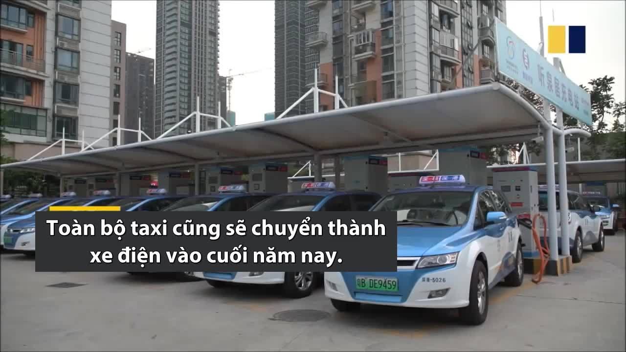 Thành phố Trung Quốc có hơn 6.000 xe buýt điện hoạt động