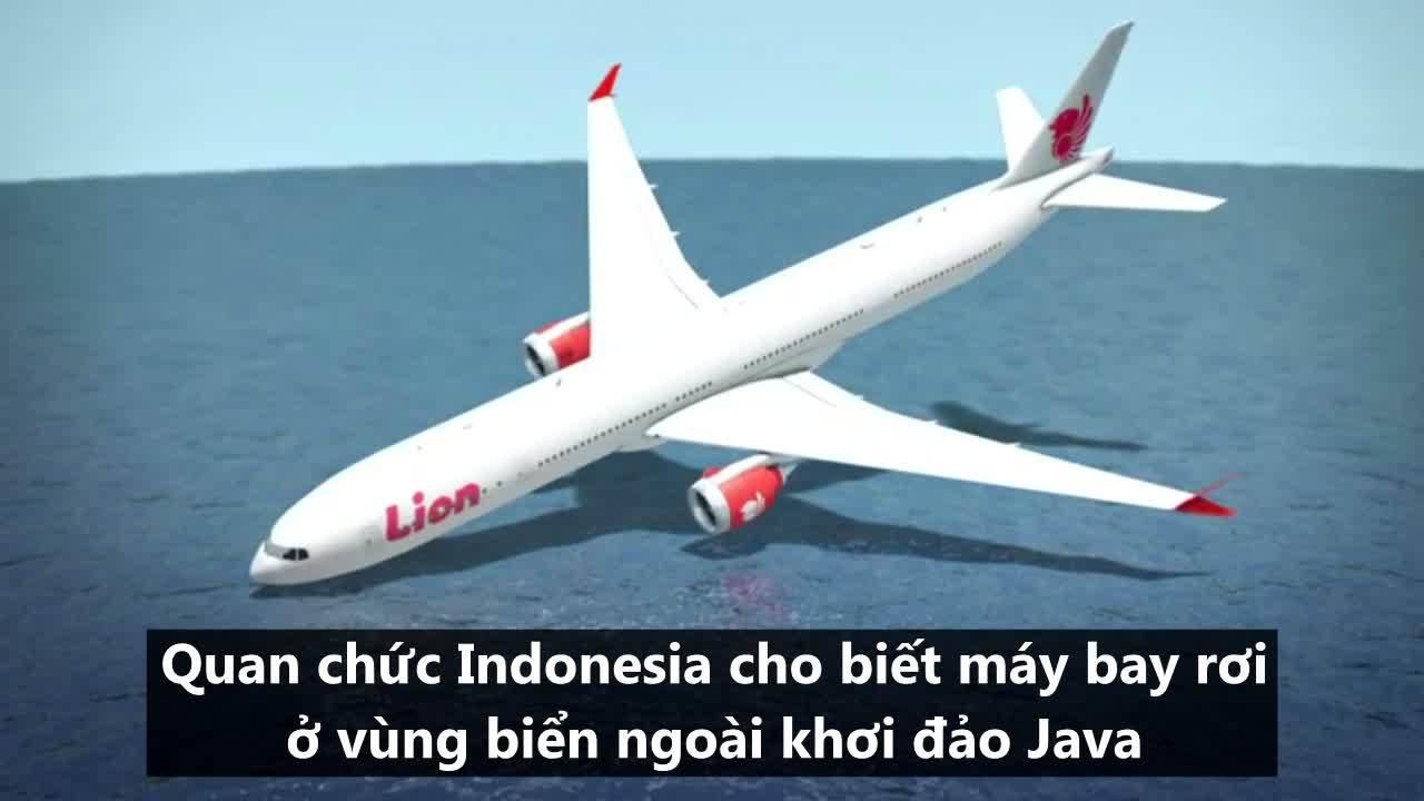 Toàn cảnh vụ máy bay Indonesia rơi xuống biển