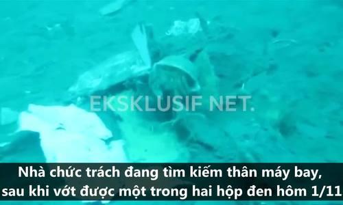 Mảnh vỡ máy bay Indonesia nằm la liệt dưới đáy biển