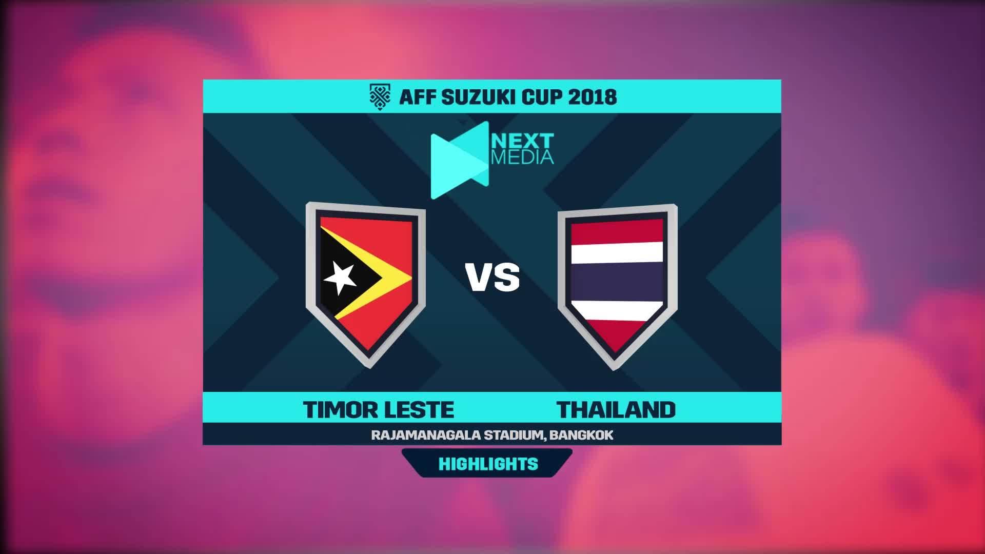 Timor Leste 0-7 Thái Lan