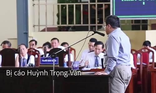 Bị cáo Huỳnh Trọng Văn
