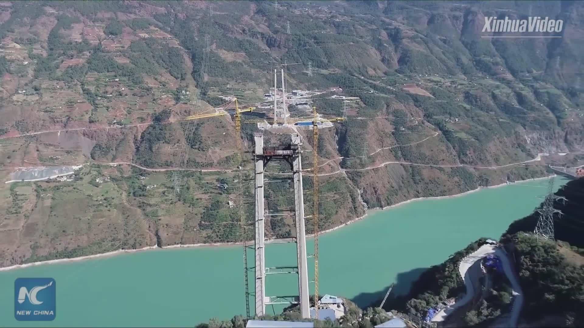 Trung Quốc xây cầu treo giàn thép một nhịp dài nhất thế giới