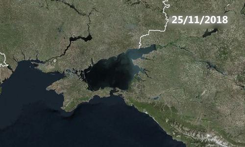 Lộ trình của nhóm chiến hạm Ukraine trước khi bị bắt