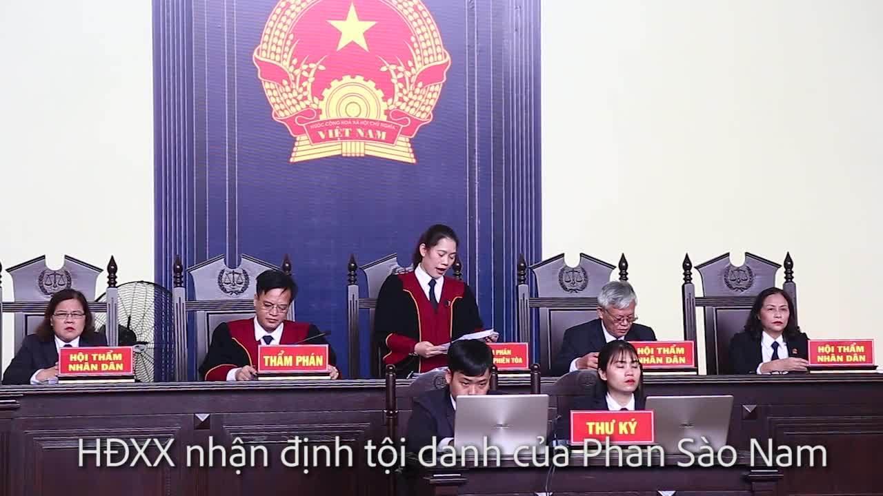 HĐXX nhận định tội danh Phan Sào Nam