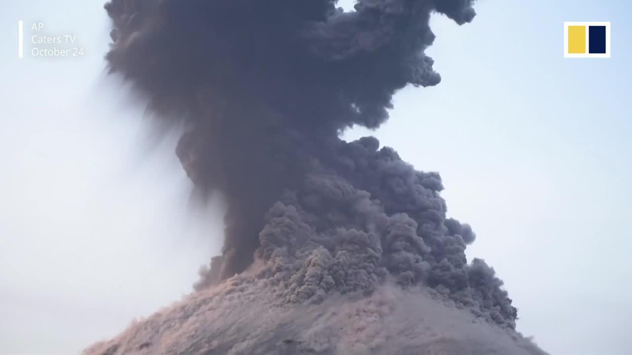 Ngọn núi lửa đứng sau thảm họa sóng thần ở Indonesia