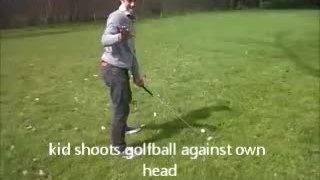 Cậu bé gặp họa bởi 'bóng golf trở lại'