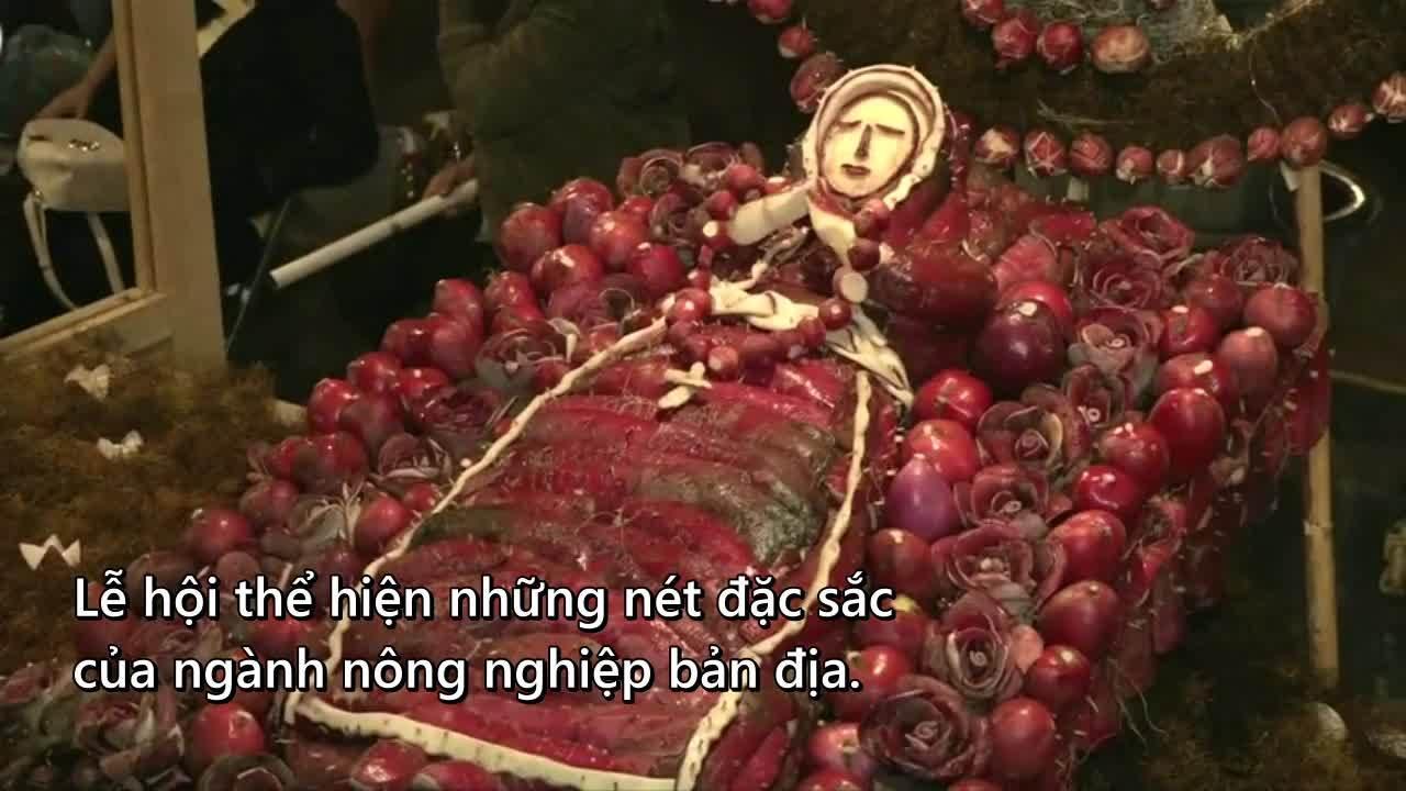 Lễ hội Giáng sinh củ cải đỏ ở Mexico