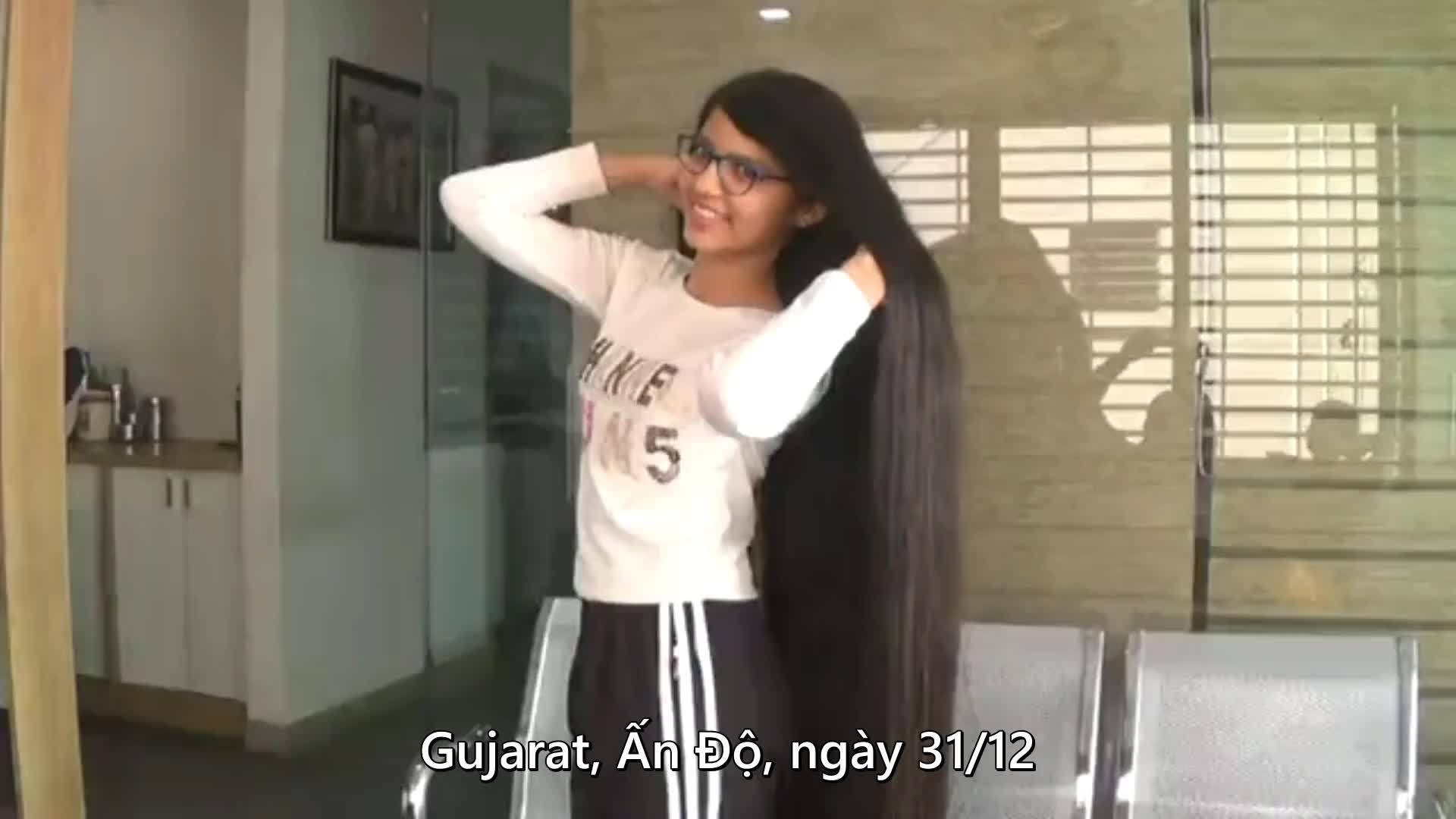 'Công chúa tóc mây' Ấn Độ lập kỷ lục tóc dài nhất thế giới