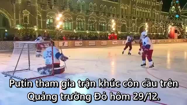 Putin ghi 5 điểm khúc côn cầu trên Quảng trường Đỏ