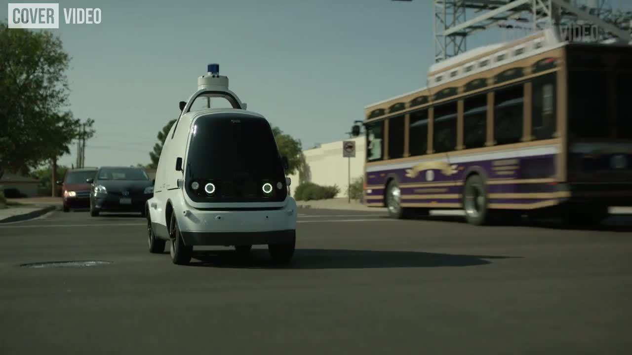 Xe giao hàng tự lái bắt đầu hoạt động tại Mỹ