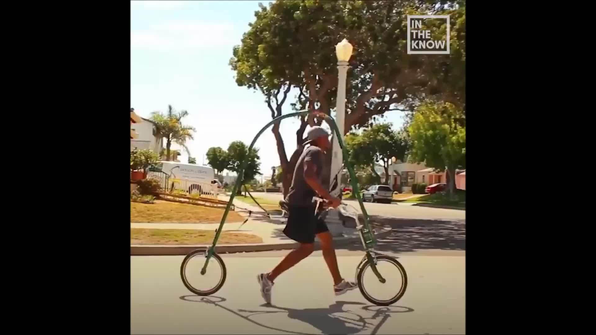 Xe đạp không bàn đạp giúp người dùng tập chạy