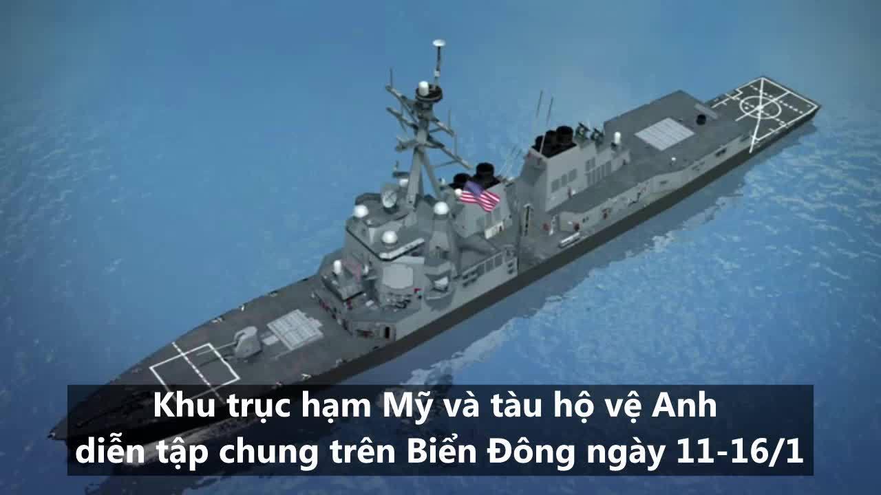 Cuộc diễn tập thách thức Trung Quốc của Mỹ - Anh trên Biển Đông