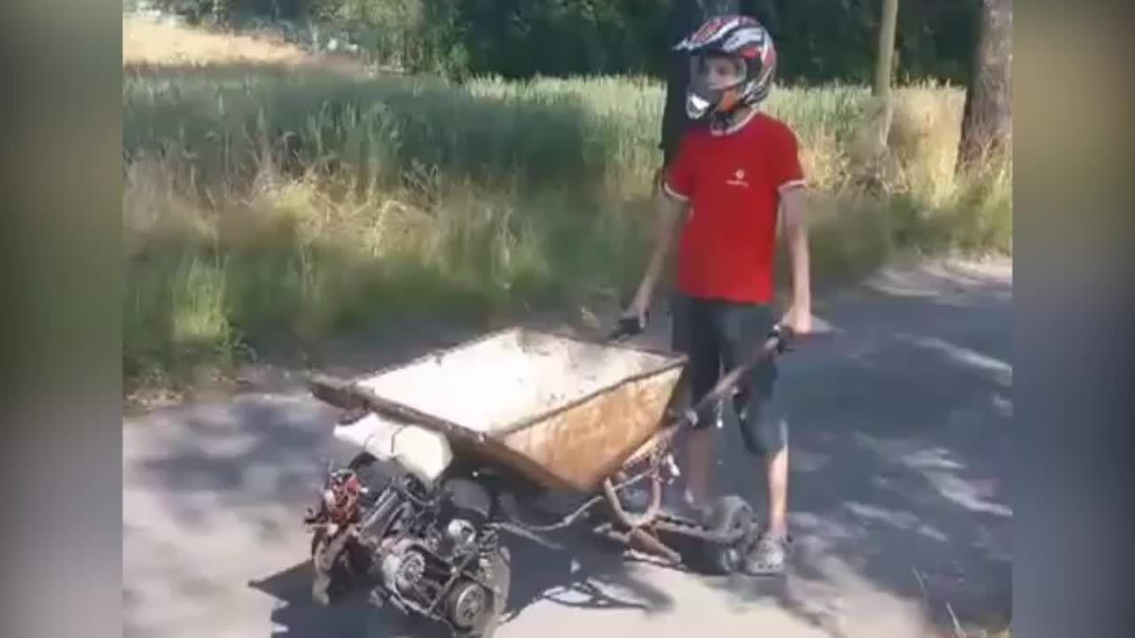 Khi xe rùa gắn động cơ