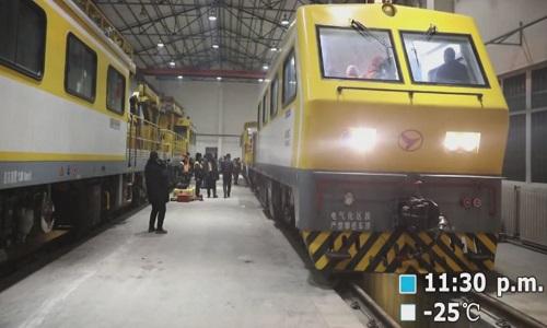 Bảo dưỡng hầm đường sắt cao nhất thế giới ở Trung Quốc