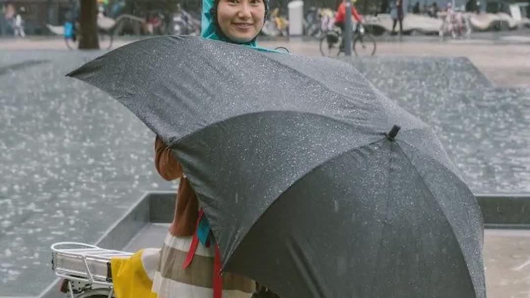 Ô che mưa chuyên dành cho người đạp xe