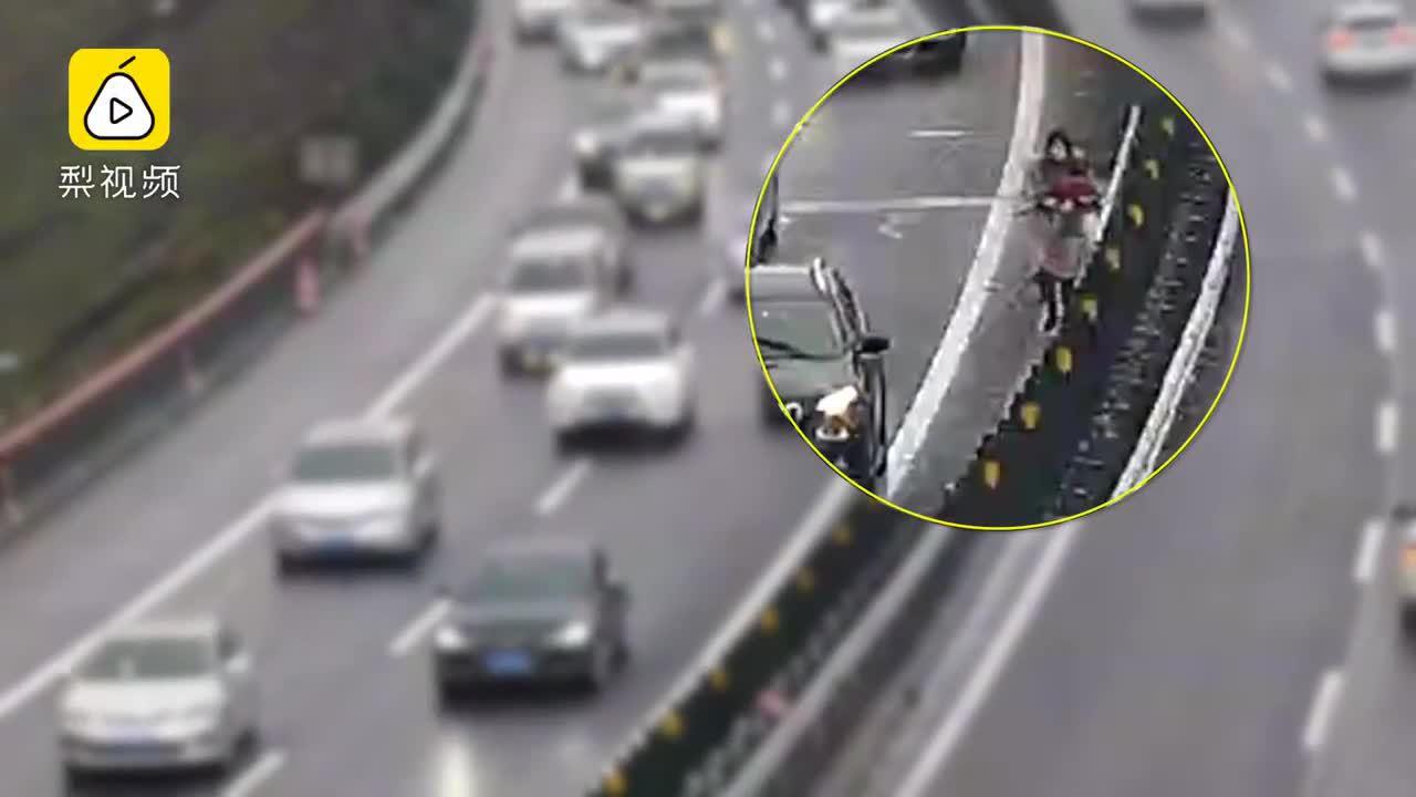 Tài xế gây tắc đường vì dừng ôtô giữa cao tốc cho con đi tiểu
