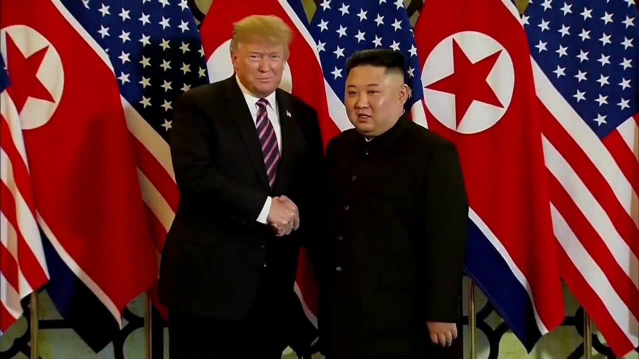 Cuộc trao đổi trước bữa tối của Tổng thống Trump và Chủ tịch Kim