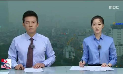 Đài Hàn Quốc dựng trường quay trên nóc nhà cao tầng ở Hà Nội