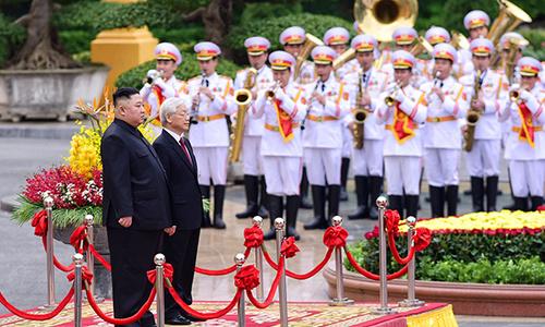 Lễ đón Chủ tịch Kim Jong-un tại Phủ Chủ Tịch