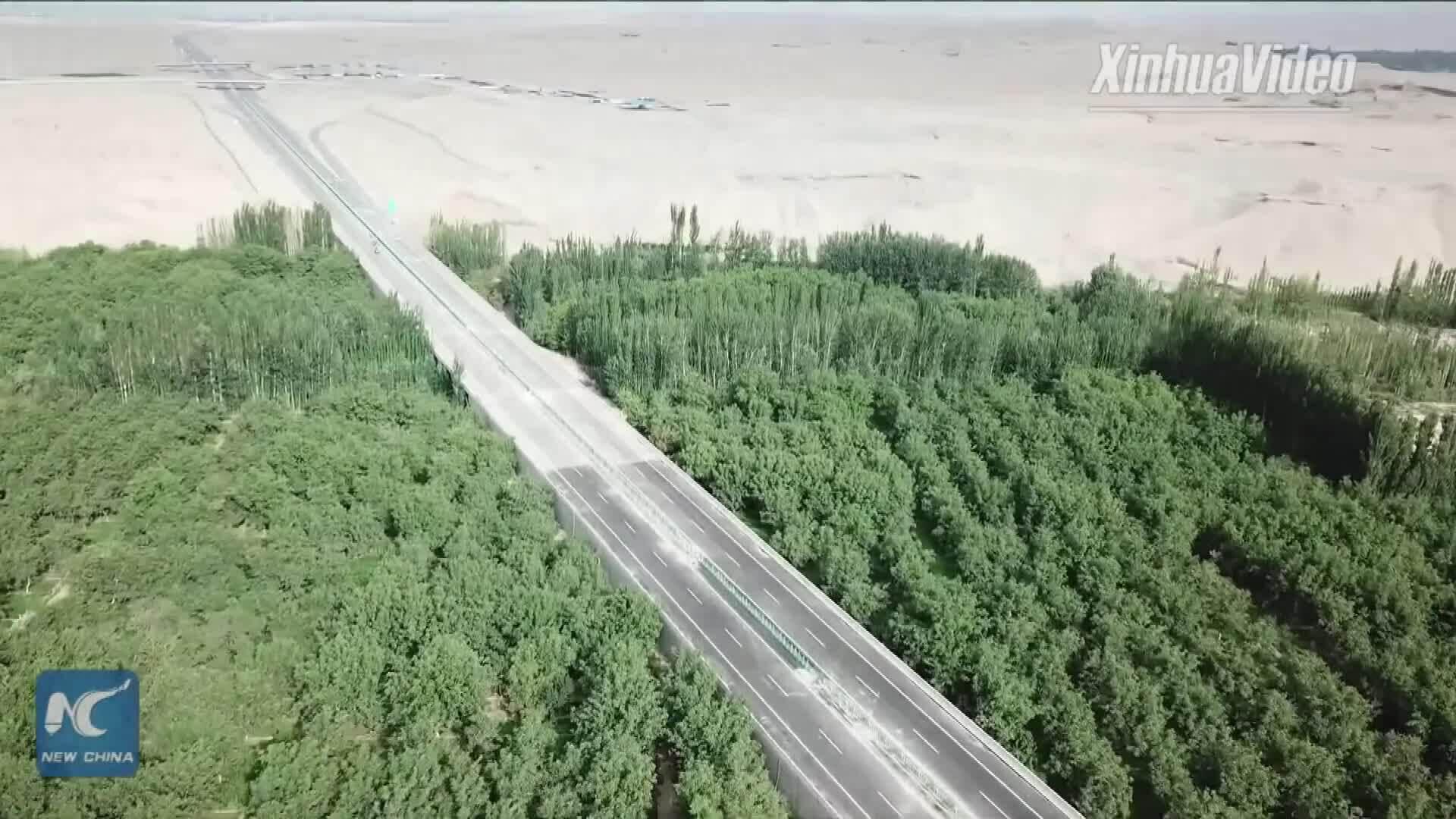 Mạng lưới đường cao tốc dài 4.800 km ở Tân Cương
