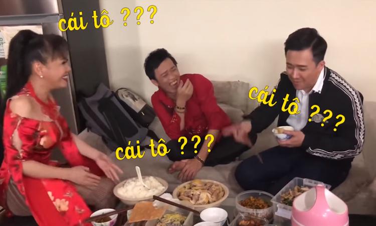 Trấn Thành bị Việt Hương mắng te tát vì tham ăn