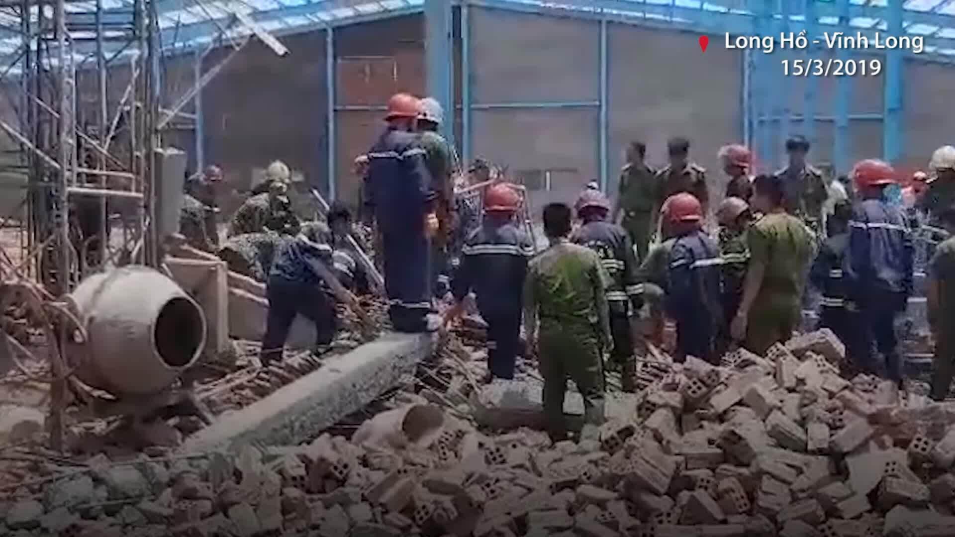 Sập công trình ở Vĩnh Long