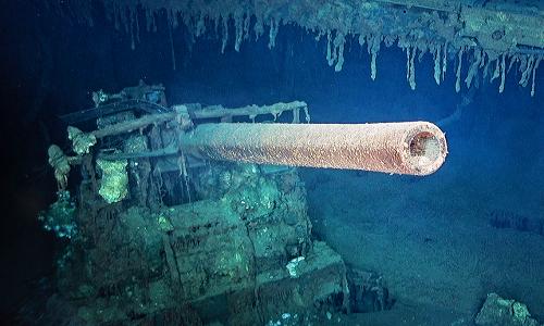 Tìm thấy xác tàu sân bay Mỹ ở độ sâu hơn 4.200 mét