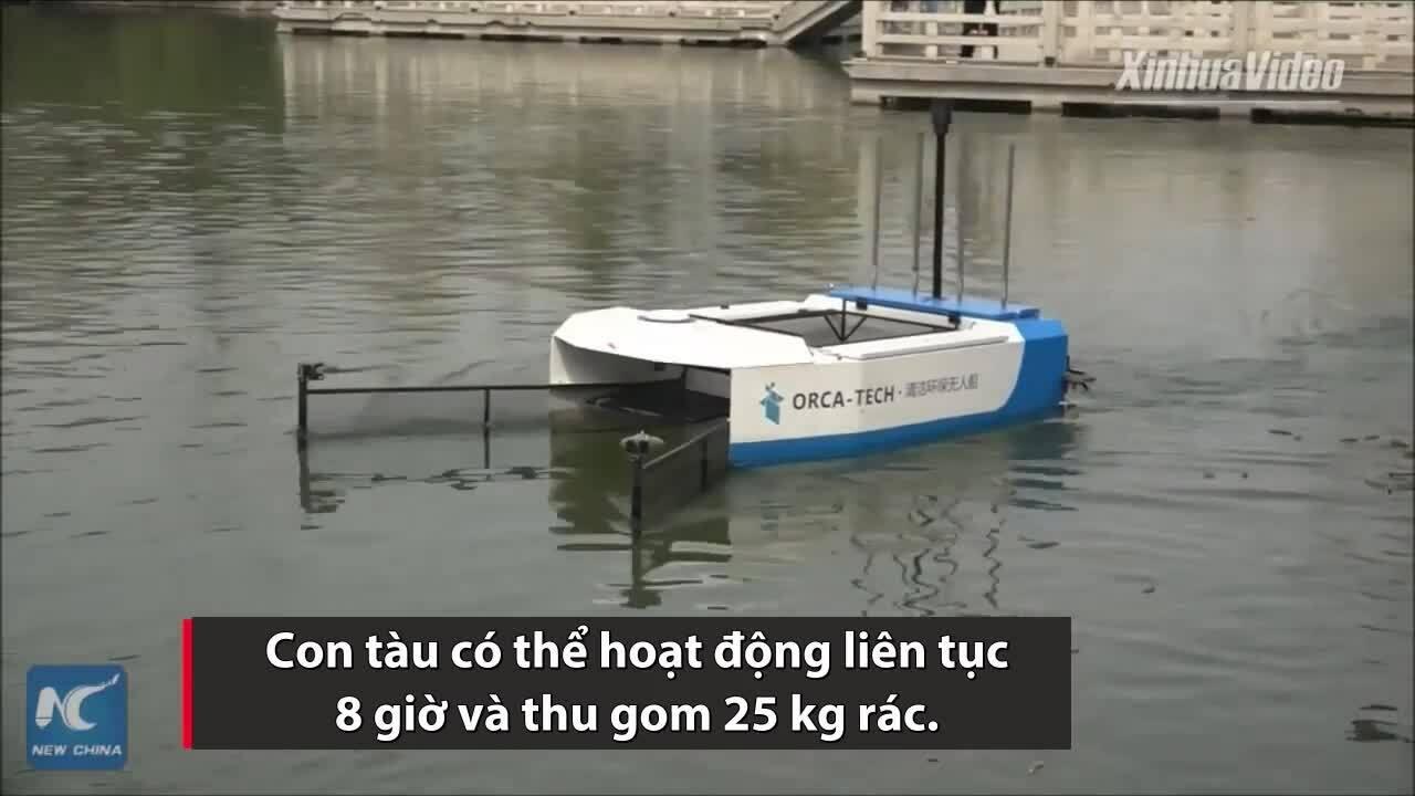 Tàu điều khiển từ xa dọn rác hiệu quả gấp ba lần con người