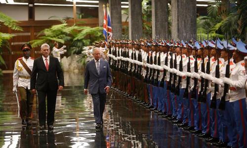 Chủ tịch Cuba tiếp Thái tử Anh trong chuyến thăm lịch sử