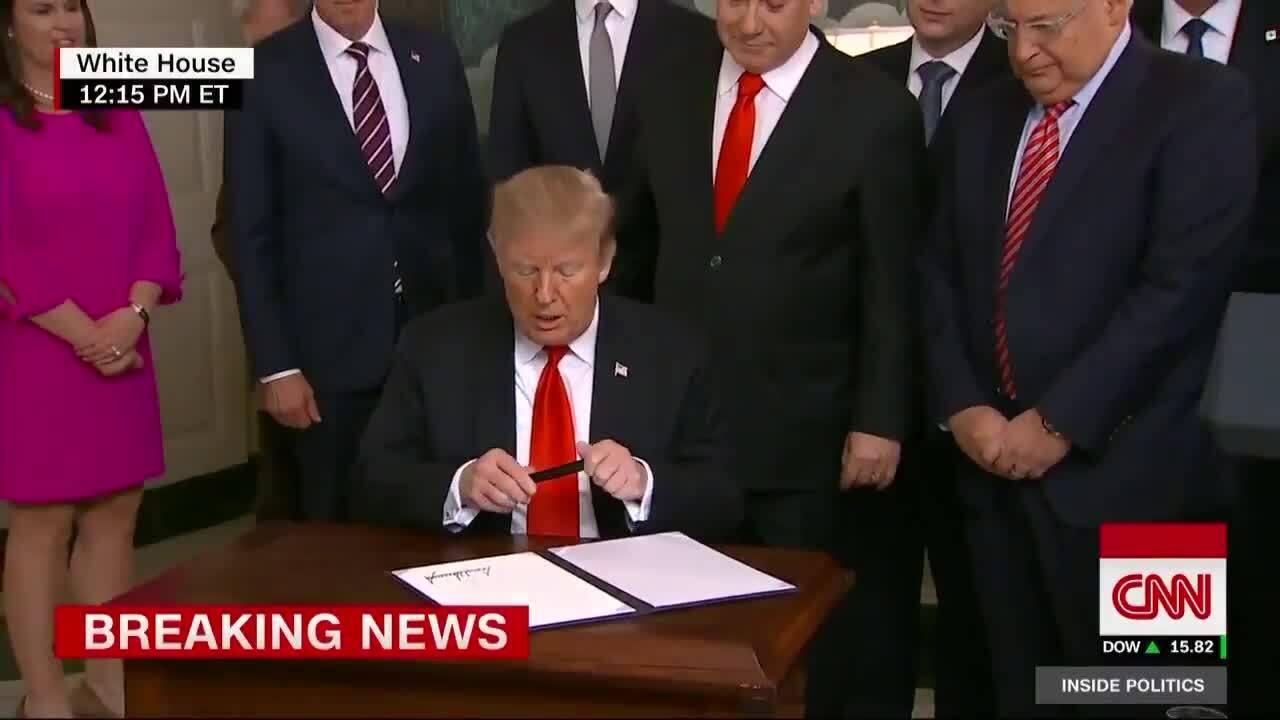 Trump ký tuyên bố công nhận Cao nguyên Golan thuộc chủ quyền Israel
