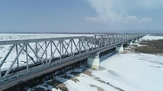 Cầu đường sắt đầu tiên nối Nga và Trung Quốc được hoàn thành