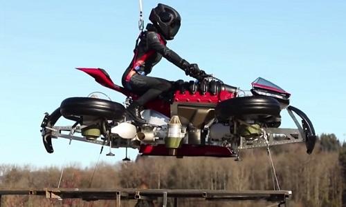 Mẫu môtô bay đầu tiên trên thế giới ra mắt vào tháng 10