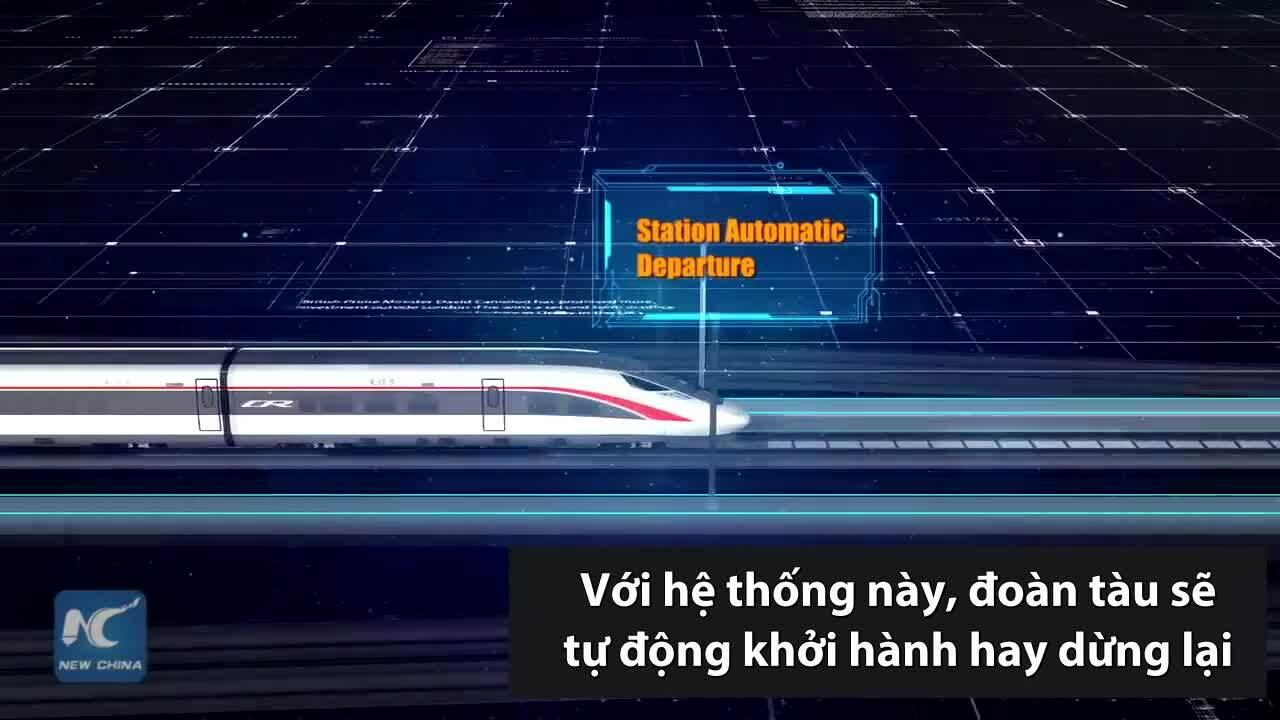 Hệ thống vận hành tự động cho tàu cao tốc Trung Quốc