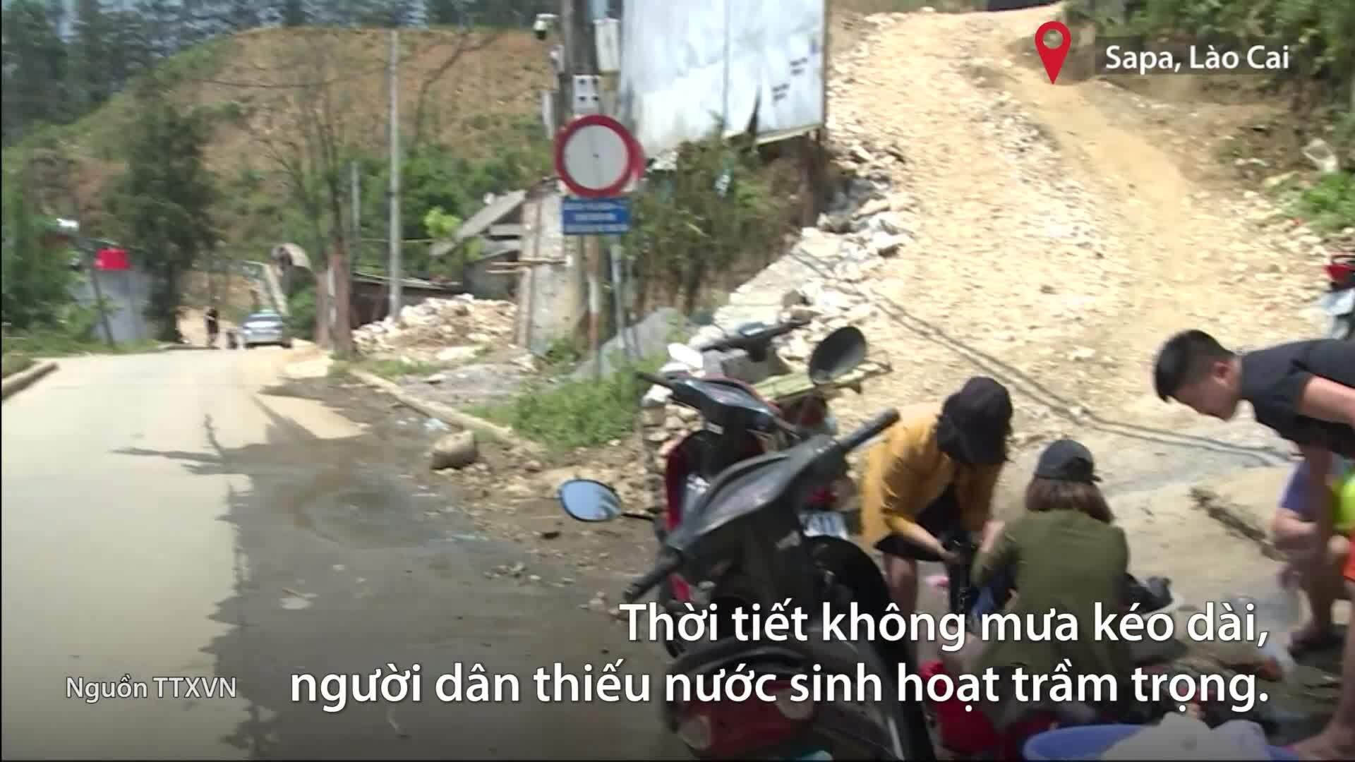 Thị trấn Sa Pa thiếu nước sinh hoạt trầm trọng