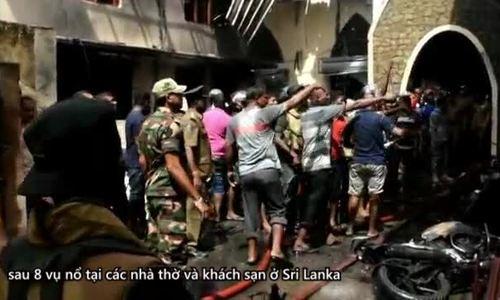 Cảnh tượng hỗn loạn sau vụ đánh bom nhà thờ ở Sri Lanka