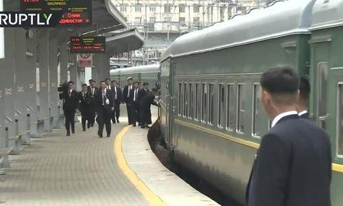 Tàu bọc thép chở Kim Jong-un tới Vladivostok, Nga