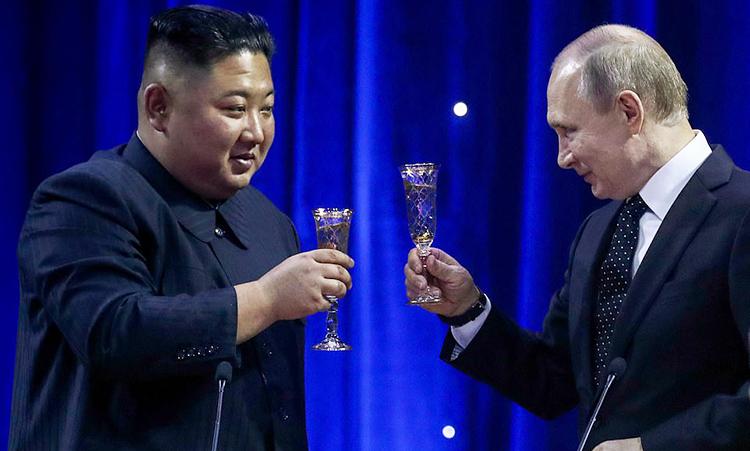 Putin gọi Kim Jong-un là đồng chí khi dự chiêu đãi