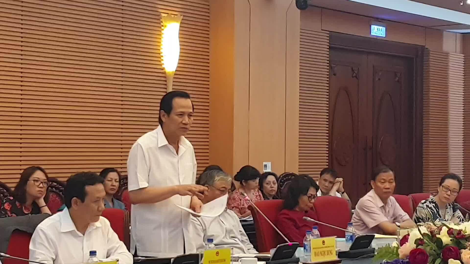 Bộ trưởng Đào Ngọc Dung nói về tăng tuổi nghỉ hưu